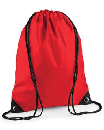 CASTLETOWN PRIMARY SCHOOL RED PREMIUM GYMSACK/SHOEBAG WITH LOGO