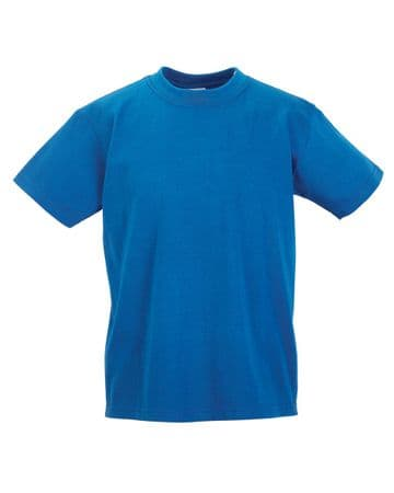EAST END FC ROYAL COTTON T- SHIRT WITH LOGO