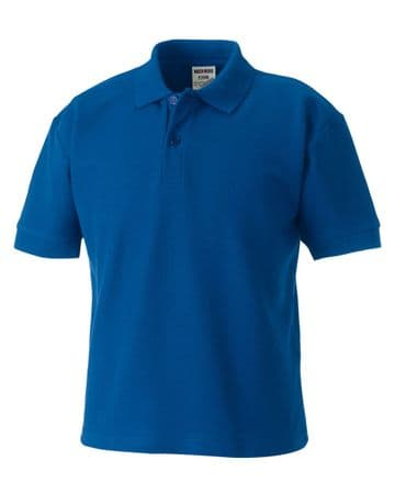 EAST END FC ROYAL POLO SHIRT WITH EMBROIDERED LOGO