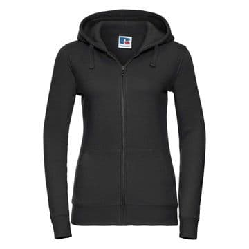 FARR HIGH SCHOOL BLACK LADIES ZIPPED HOODIE WITH LOGO