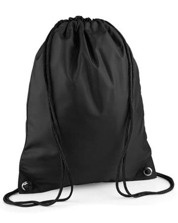 FARR HIGH SCHOOL BLACK PREMIUM GYMSACK/SHOEBAG WITH LOGO