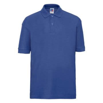 FARR HIGH SCHOOL ROYAL BLUE POLO SHIRT WITH LOGO