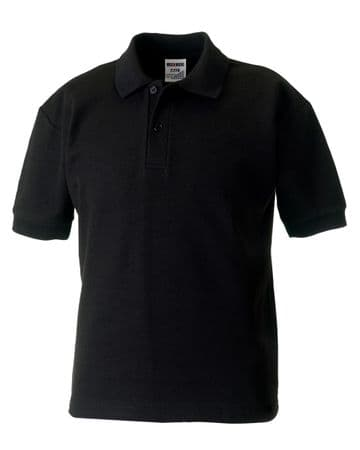 HALKIRK PLAYGROUP ADULT  BLACK  POLO SHIRT WITH LOGO