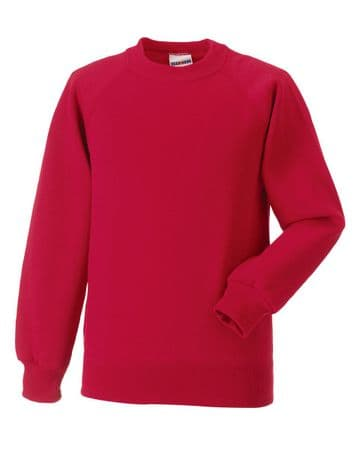 HALKIRK PLAYGROUP CHILDRENS CLASSIC RED  SWEATSHIRT WITH LOGO