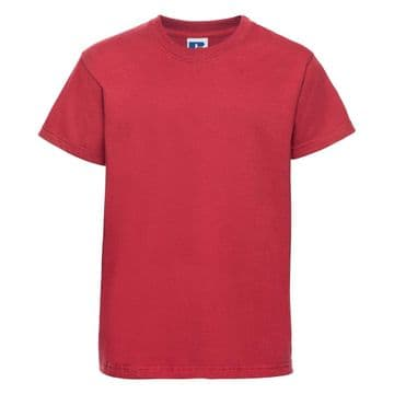 HALKIRK PLAYGROUP CHILDRENS CLASSIC RED  T- SHIRT WITH EMBROIDERED LOGO