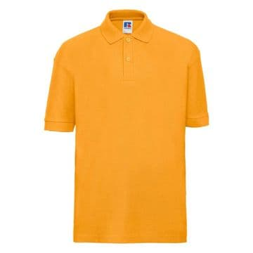 HALKIRK PRIMARY SCHOOL PURE GOLD POLO SHIRT WITH LOGO