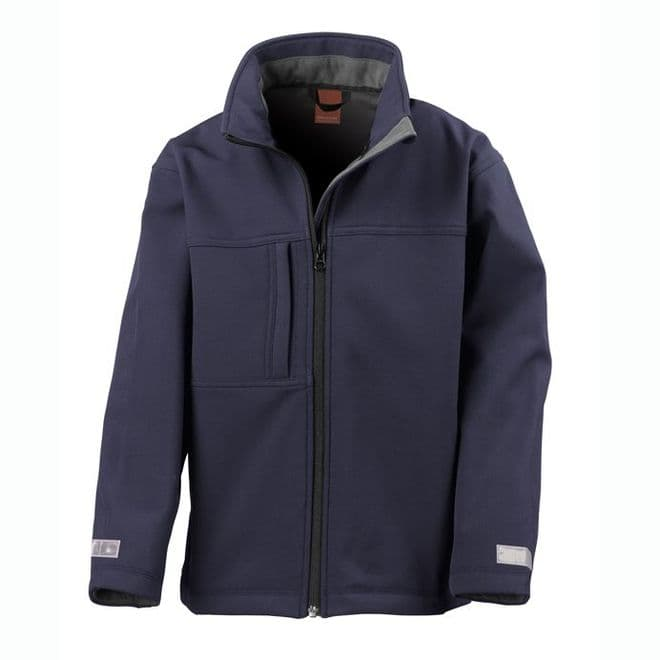 JUNIOR CLASSIC 3 LAYER SOFTSHELL JACKET WITH EMBROIDERED LOGO