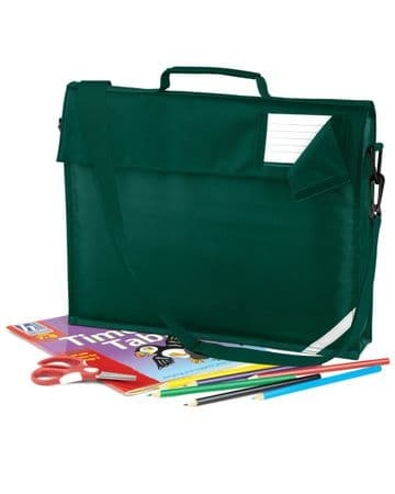 KEISS PRIMARY SCHOOL JUNIOR BOTTLE GREEN BOOK BAG WITH STRAP WITH LOGO