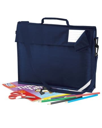 LYBSTER PRIMARY SCHOOL NAVY BOOK BAG WITH STRAP  AND WITH LOGO