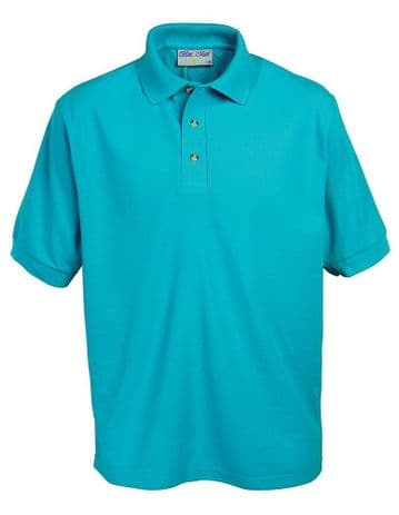 MELVICH PRIMARY SCHOOL TURQUOISE POLO SHIRT WITH LOGO