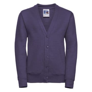 NEWTON PARK PRIMARY SCHOOL PURPLE CARDIGAN WITH LOGO