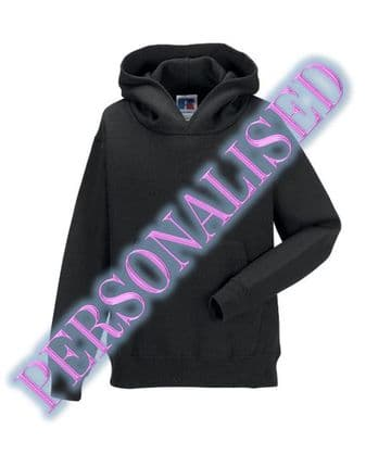 NRG KIDS UNISEX PULLOVER HOODIE WITH EMBROIDERED LOGO & PERSONALISED