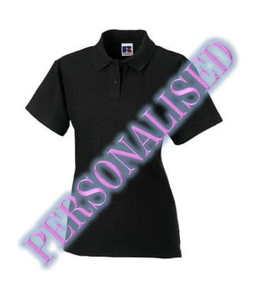 NRG LADIES FITTED POLO WITH EMBROIDERED LOGO & PERSONALISED