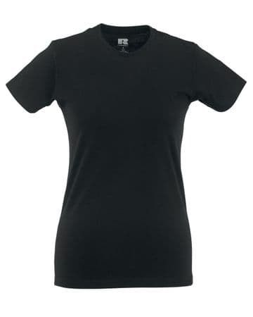 NRG LADIES FITTED T-SHIRT WITH EMBROIDERED LOGO