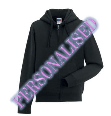 NRG MALE ZIPPED HOODIE WITH EMBROIDERED LOGO & PERSONALISED