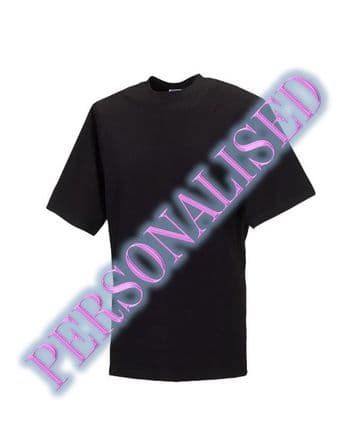 NRG UNISEX T-SHIRT WITH EMBROIDERED LOGO & PERSONALISED