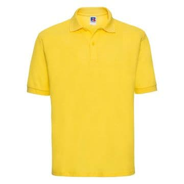 PLAYDEN EMBROIDERED YELLOW POLO SHIRT WITH LOGO