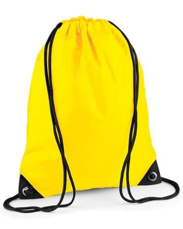 PLAYDEN EMBROIDERED  YELLOW PREMIUM GYMSACK/SHOEBAG WITH LOGO