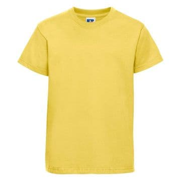 PLAYDEN NURSERY YELLOW   T- SHIRT WITH PRINTED LOGO
