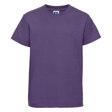 PLAYDEN  PURPLE  T- SHIRT WITH PRINTED LOGO