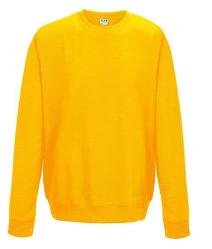 PPP ELC YELLOW SWEATSHIRT WITH EMBROIDERED LOGO