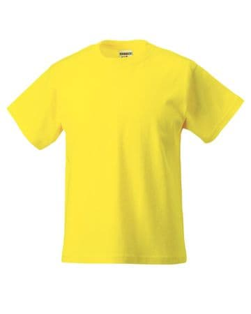 PPP ELC YELLOW T-SHIRT WITH EMBROIDERED LOGO
