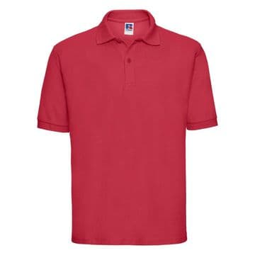 SCALLYWAGS NURSERY  SCHOOL CLASSIC RED POLO SHIRT WITH EMBROIDERED LOGO