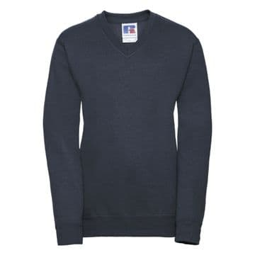 THRUMSTER PRIMARY  SCHOOL NAVY  V-NECK SWEATSHIRT WITH LOGO