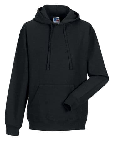 THURSO HIGH SCHOOL BLACK PULL OVER HOODIE WITH LOGO