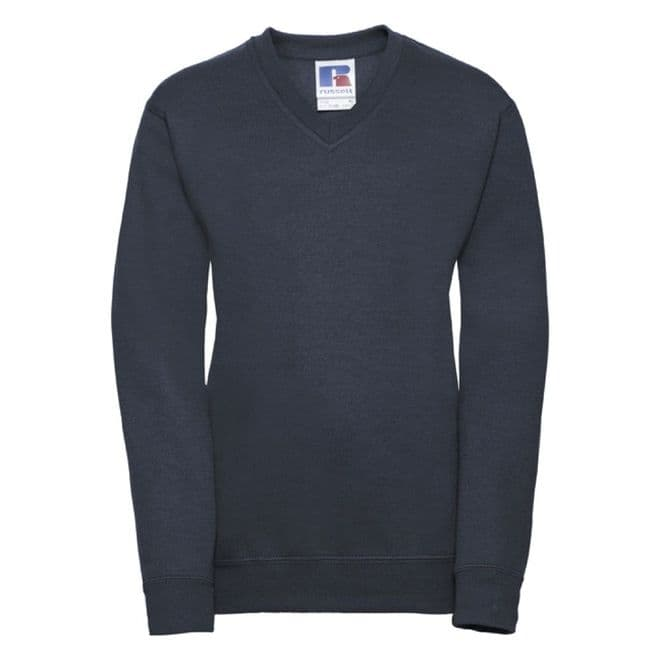 WATTEN PRIMARY  SCHOOL NAVY  V-NECK SWEATSHIRT WITH LOGO