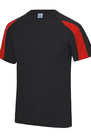 WICK ACADEMY BLACK/RED CONTRAST T-SHIRT