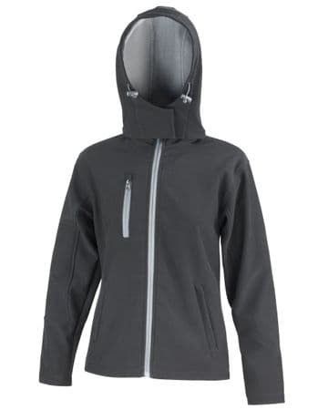 WICK ACADEMY LADIES FITTED BLACK SOFTSHELL JACKET