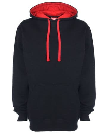 WICK GROATS  FC CONTRAST HOODIE WITH EMBROIDERED LOGO