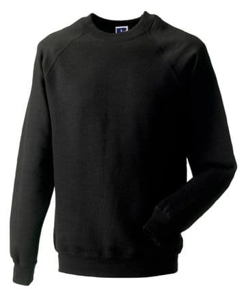 WICK HIGH SCHOOL BLACK SWEATSHIRT WITH EMBROIDERED LOGO
