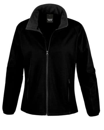 WICK HIGH SCHOOL LADIES SOFTSHELL JACKET WITH LOGO