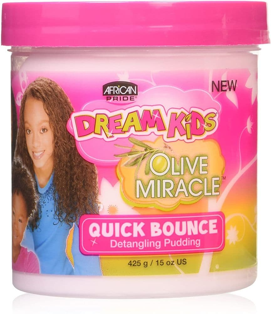 African Pride Dream Kids Olive Miracle Quick Bounce Hair Detangling Pudding 425g