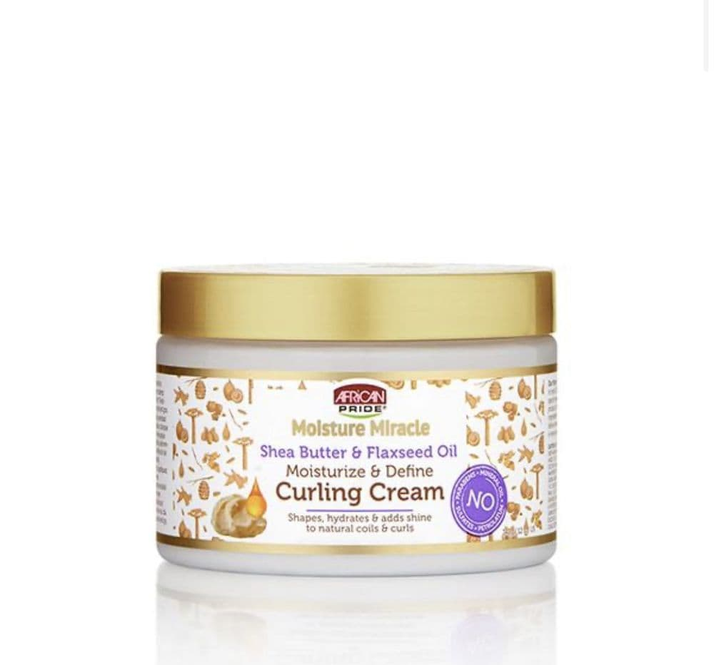 African Pride Moisture Miracle Shea Butter & Flaxseed Oil Curling Cream