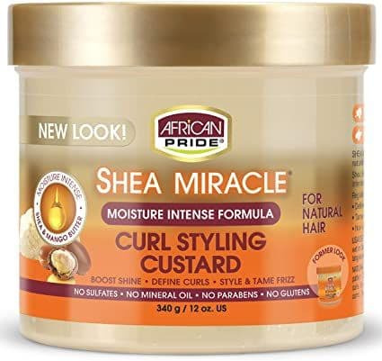 African Pride Shea Butter Miracle Curl Styling Custard 340g
