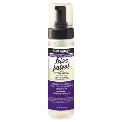 Aunt Jackie's Grapeseed Frizz Patrol Setting Mousse 8.5oz