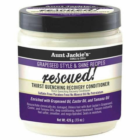 Aunt Jackie's Grapeseed Rescued Thirst Quenching Recovery Conditoner 15oz