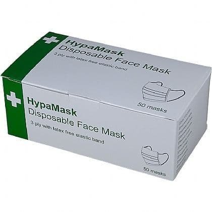 1x50 Disposable Face Mask 3ply