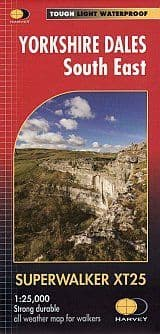 Harvey Yorkshire Dales South East XT25 Map