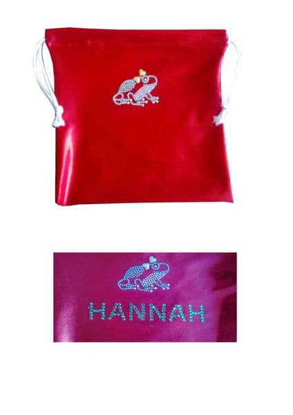 Personalised Handguard/Leotard Bags With Frog Motif From £9.50