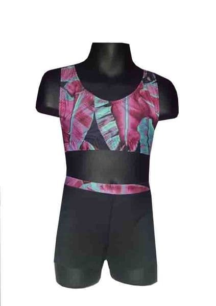 Pink Leaf 2 Shorts and Crop Top Set From £32.95