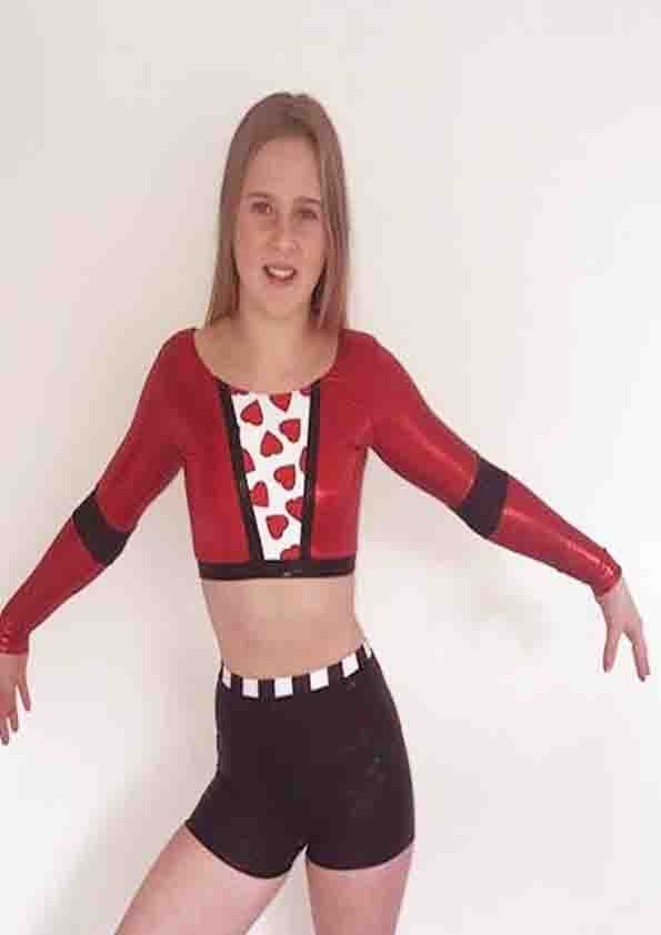 QUEEN OF HEARTS Long Sleeved 2 Piece Set From £35