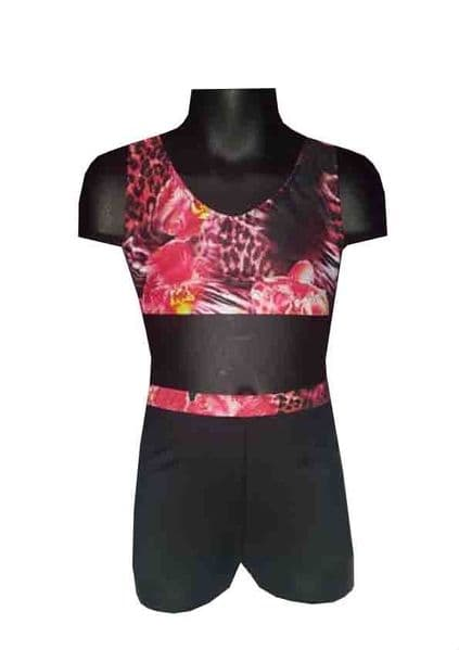 Summer Orchid 2 Shorts and Crop Top Set From £32.95