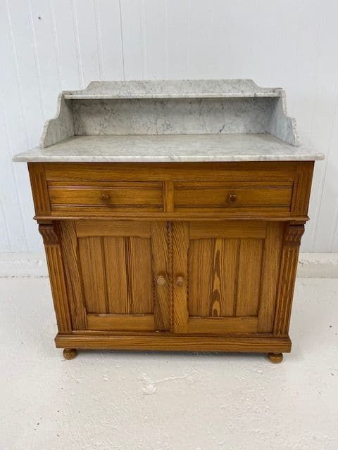 Antique French Marble Top  Wash Stand - ha17