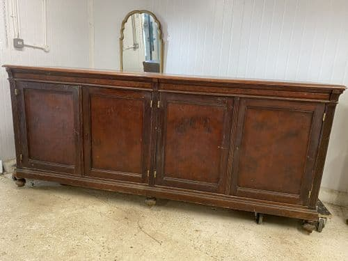 Antique Mahogany French Shop Counter - b18