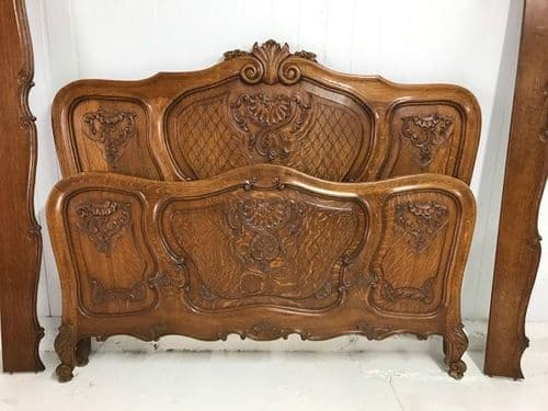 Great Quality Oak French Bed -  Larger Example - a104