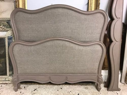 LOVELY VINTAGE UPHOLSTERED FRENCH BED  - New Upholstery -  cw19
